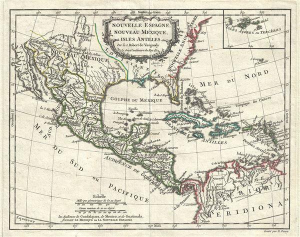 Nouvelle Espagne, Nouvelle Mexique, Isles Antiles.