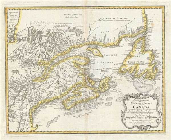 Partie Orientale de la Nouvelle France ou du Canada.
