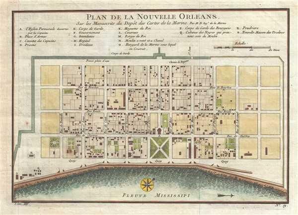Plan de la Nouvelle-Orleans sur les Manuscrits du Depot des Cartes de la Marine.