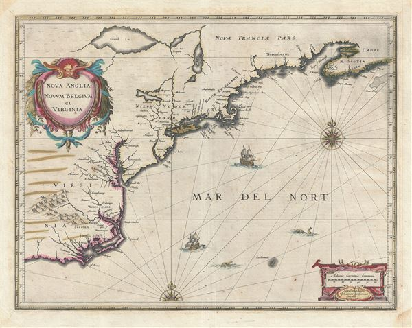 Nova Anglia Novum Belgium et Virginia. - Main View