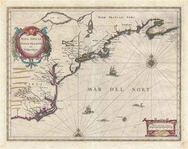 Nova Anglia Novum Belgium et Virginia.
