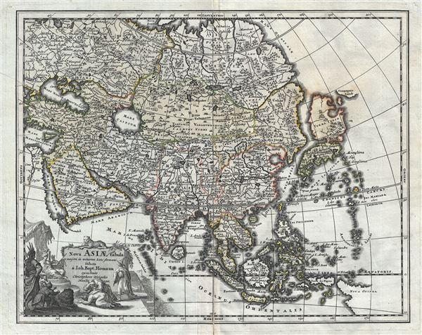Nova Asiae Tabula e majori in minorem hanc formam reducta a Ioh. Bapt. Homann excudente Christophero Weigelio Noribergae.