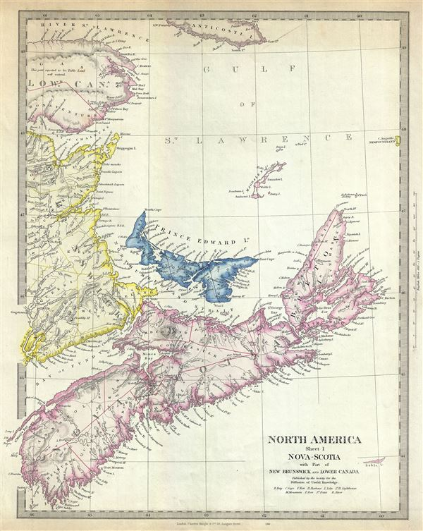 North America Sheet I Nova-Scotia with Part of New Brunswick and Lower Canada. - Main View