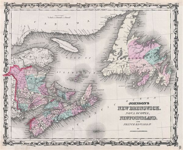 Johnson's New Brunswick, Nova Scotia, Newfoundland and Prince Edward Id. - Main View