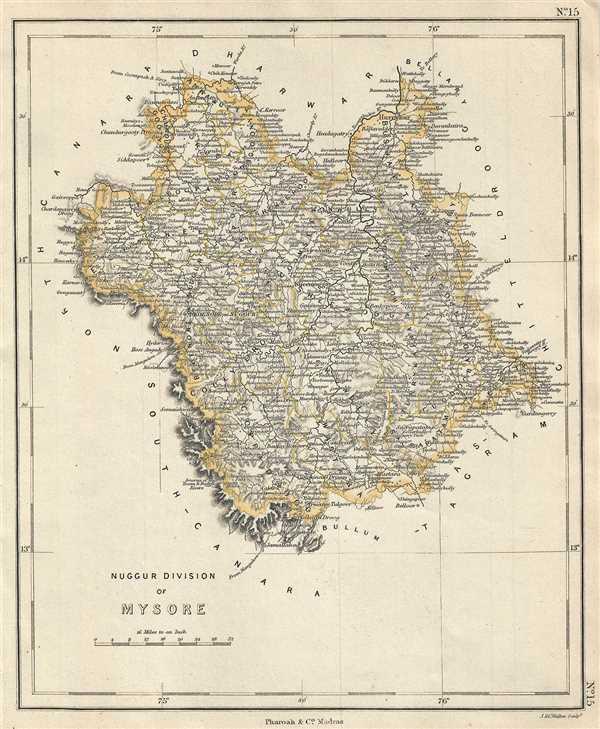 Nuggur Division of Mysore. - Main View