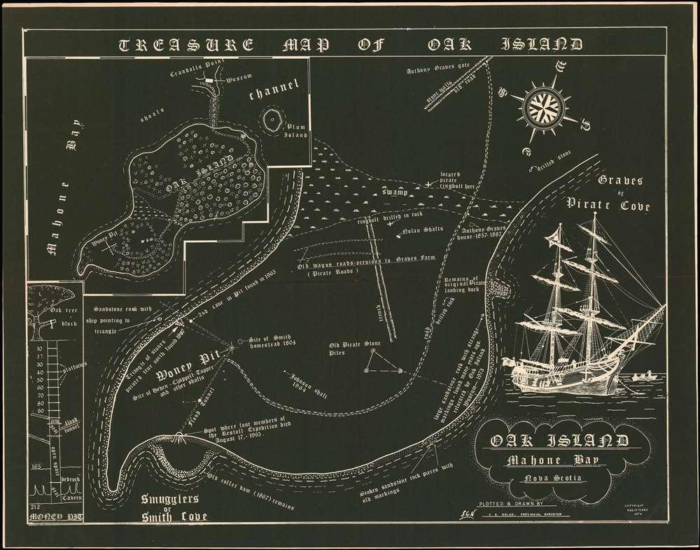 Treasure Map of Oak Island. - Main View