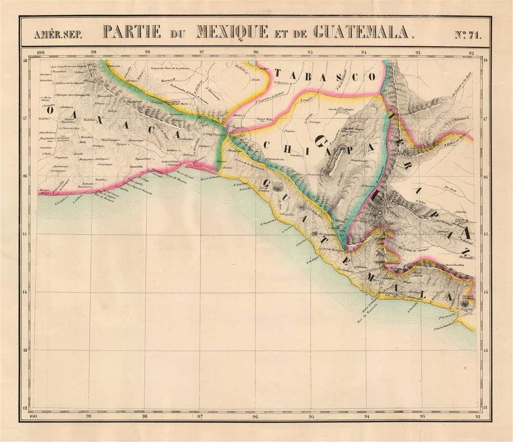 Partie du Mexique et de Guatemala. Amer. Sep. no. 71. - Main View