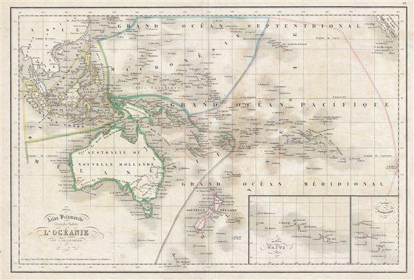 Australia Map 1850.L Oceanie Geographicus Rare Antique Maps