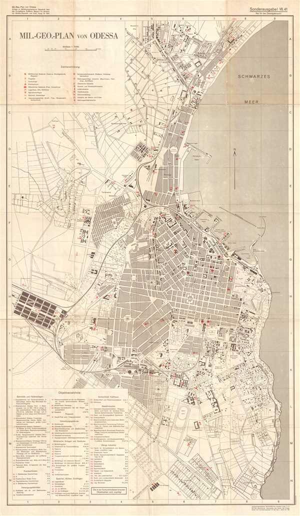 Mil.-Geo.-Plan von Odessa.