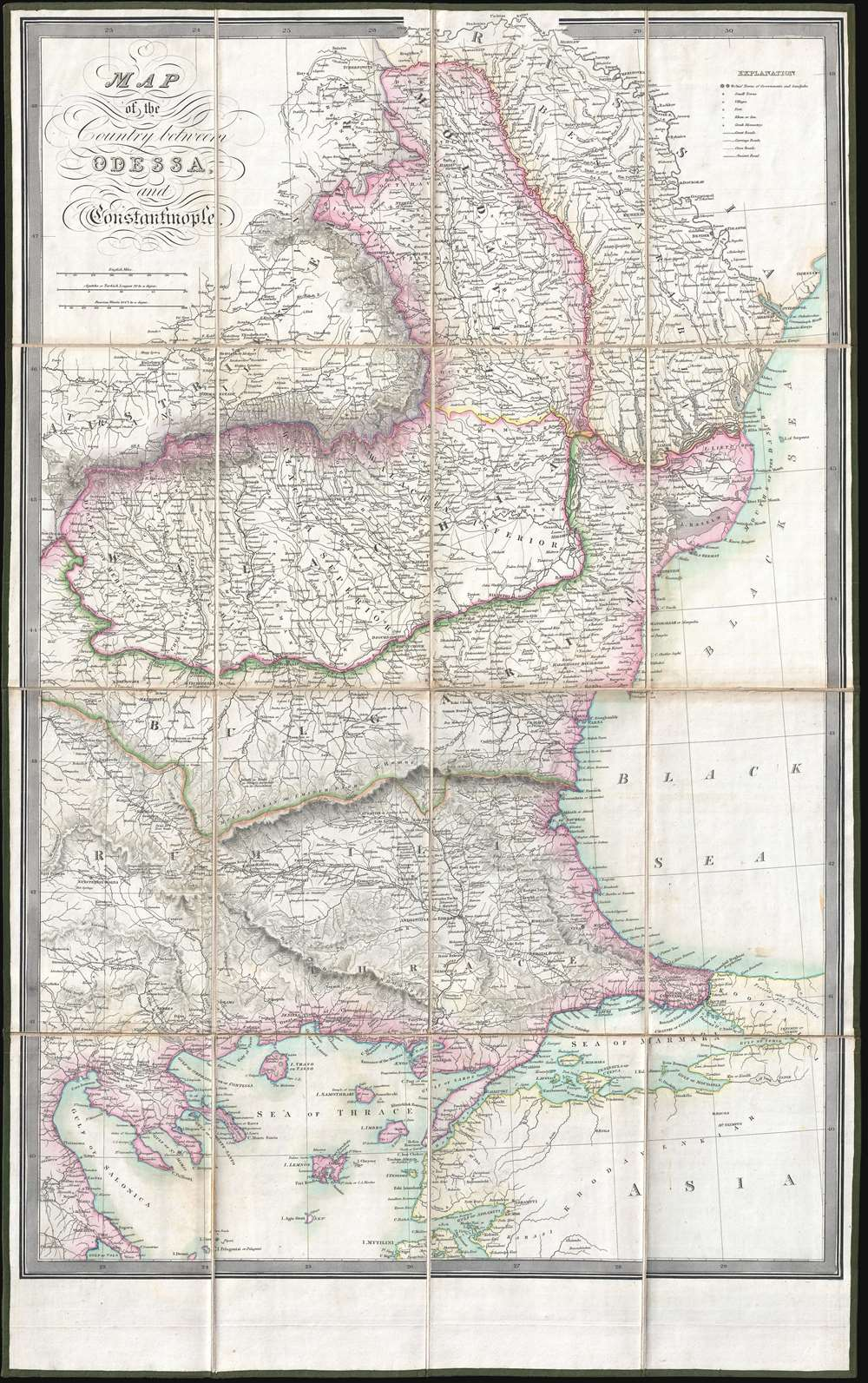 Map of the Country between Odessa, and Constantinople. - Main View