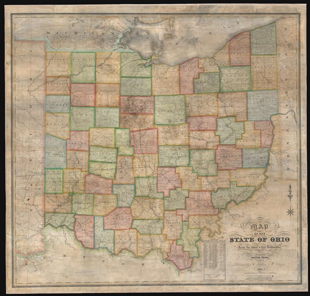 Map of the State of Ohio from the lateast and best Authorities.