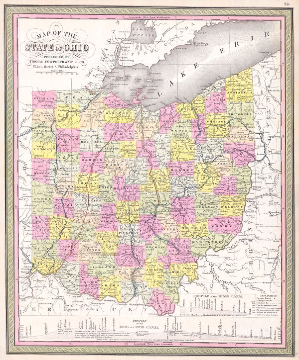 Map of the State of Ohio.