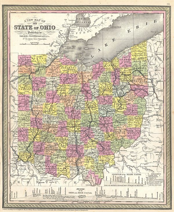 A New Map of the State of Ohio Geographicus Rare Antique Maps