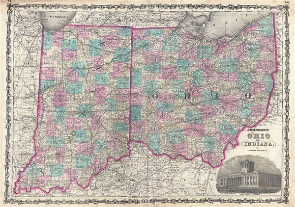 Johnson's Ohio and Indiana. - Main View
