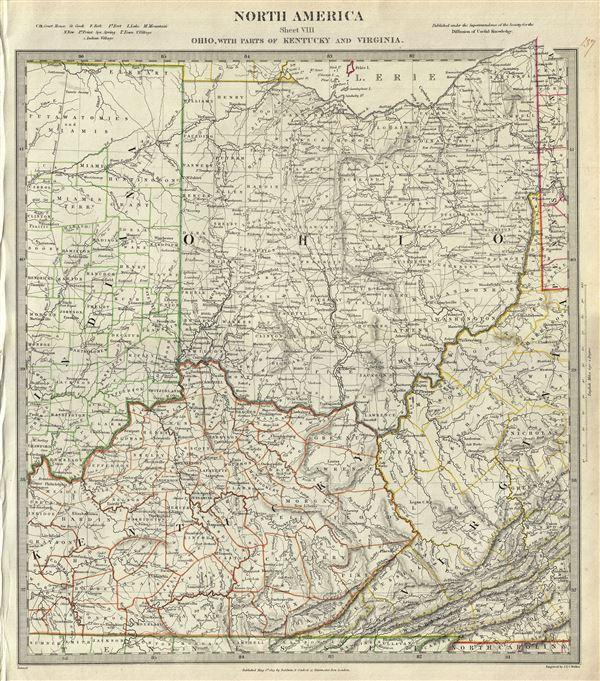North America Sheet VIII Ohio, With parts of Kentucky and Virginia.