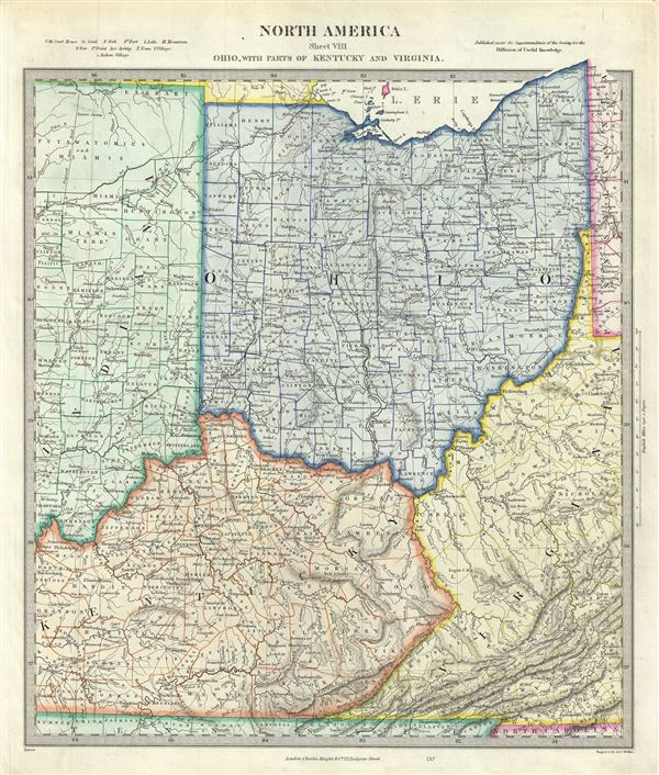 Ohio Indiana Kentucky Map
