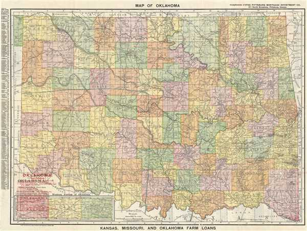 Map of Oklahoma.