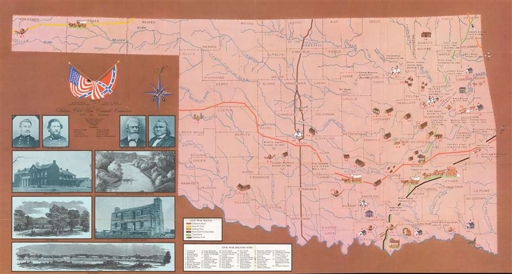 Prepared By Muriel H. Wright Oklahoma Historical Society and LeRoy H. Fischer Oklahoma State University for the Oklahoma Civil War Centennial Commission State of Oklahoma. - Main View
