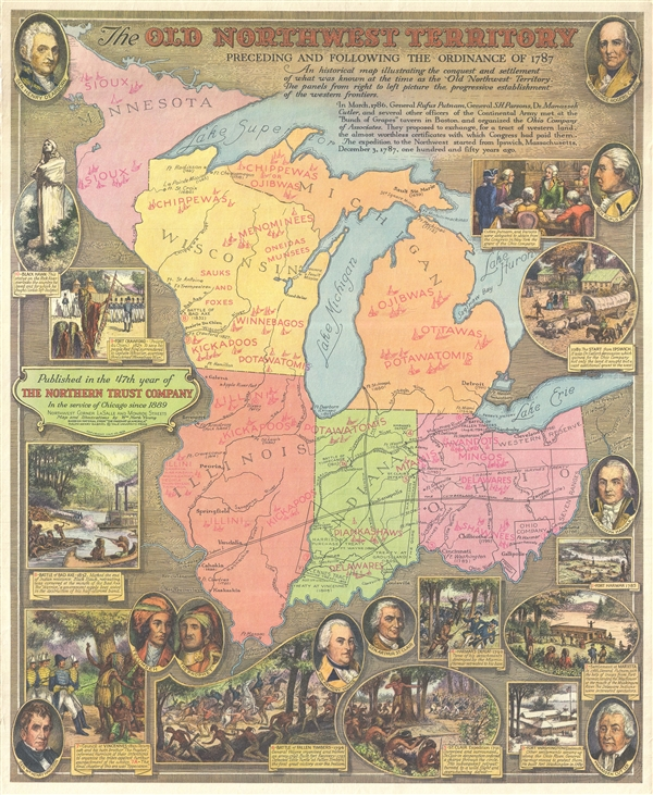 Northwest Chicago Map.The Old Northwest Territory Preceding And Following The Ordinance Of
