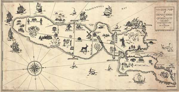 Ye Olde Map of James Towne or Quononoqutt Island.