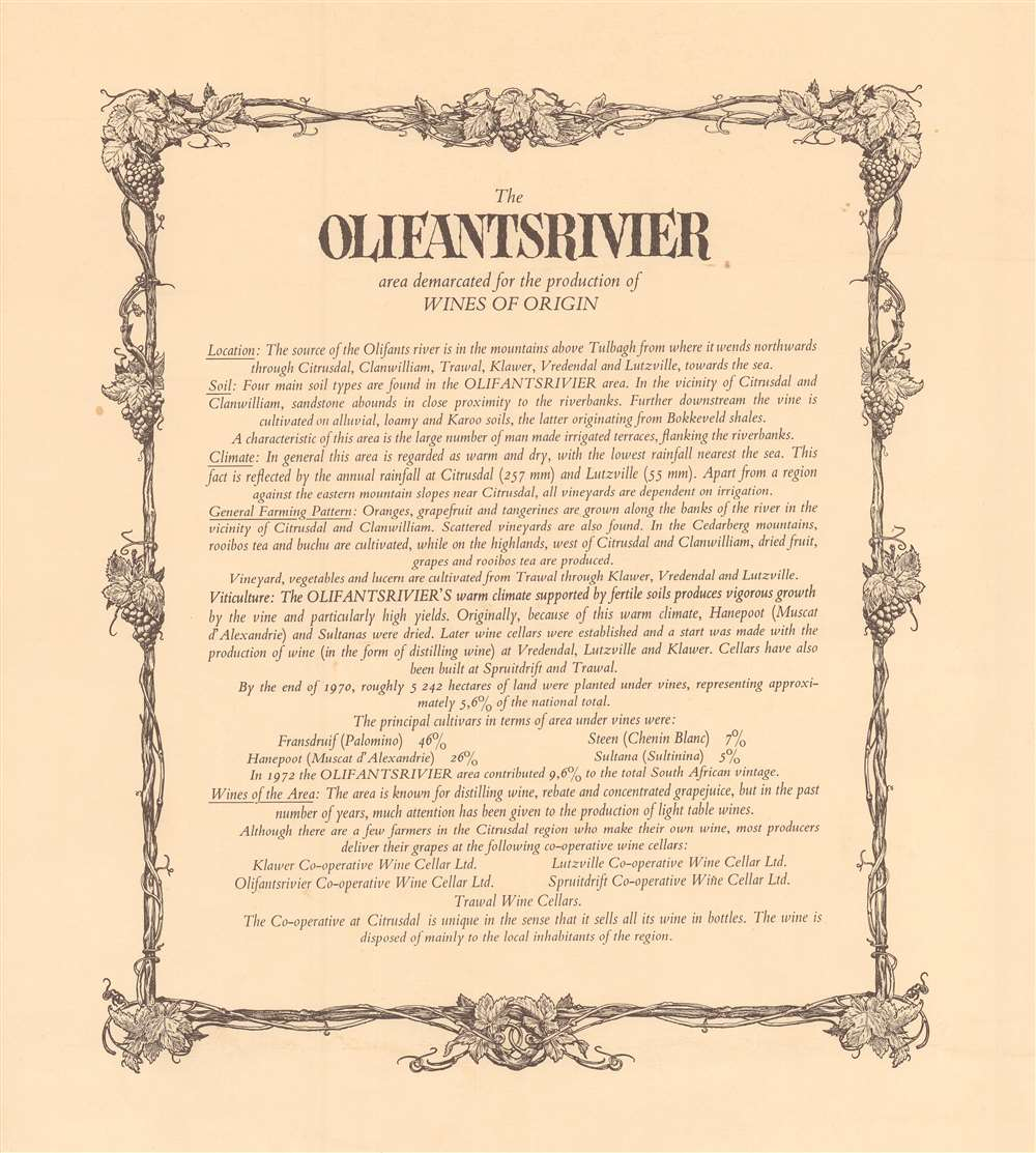 A map of the Olifantsriver area as defined for the production of Origin. - Alternate View 1