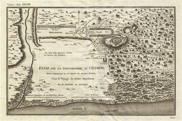 Essai sur la Topographie d'Olympie dresse uniquement sur le rapport des Auteurs Anciens, Pour le Voyage du Jeune Anacharsis.