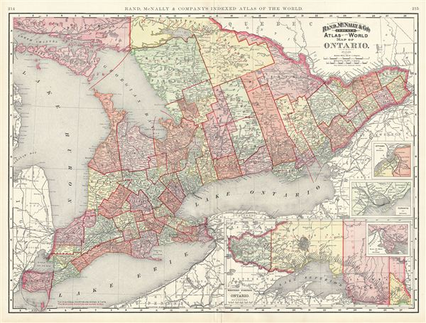 Map of Ontario.