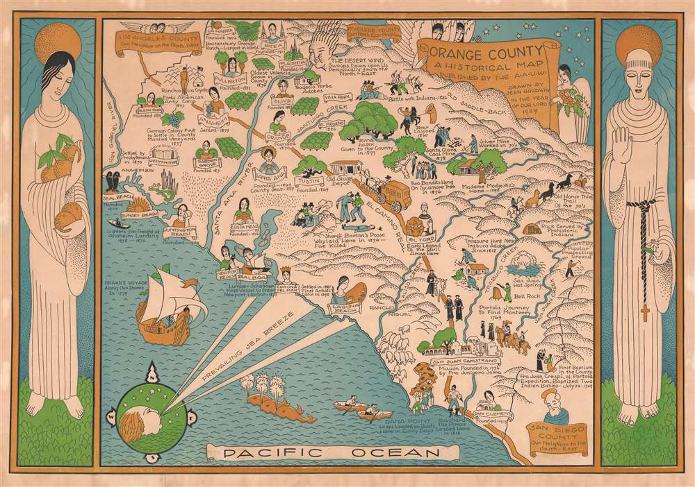 Orange County A Historical Map. - Main View