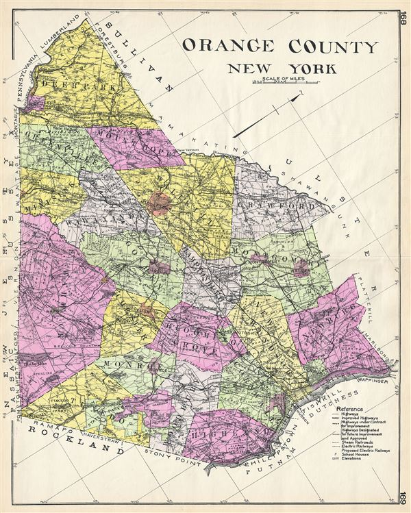 Map Of Orange County Ny Orange County New York.: Geographicus Rare Antique Maps
