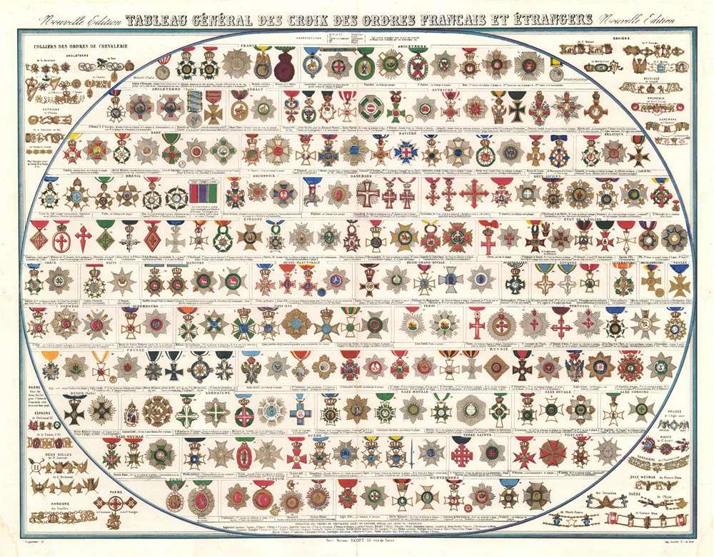Tableau Général des Croix des Ordres Français et Étrangers. Nouvelle Édition. - Main View