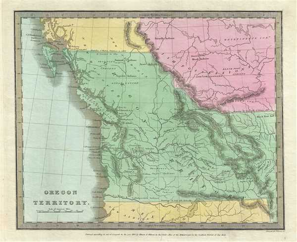Oregon Territory Geographicus Rare Antique Maps