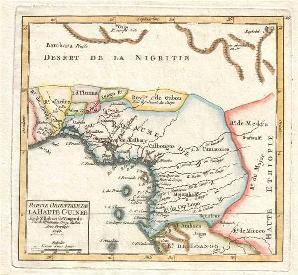 Partie Orientale de la Haute Guinee. Par le Sr. Robert de Vaugondy Fils de Mr. Robert Geog. du. Roi.