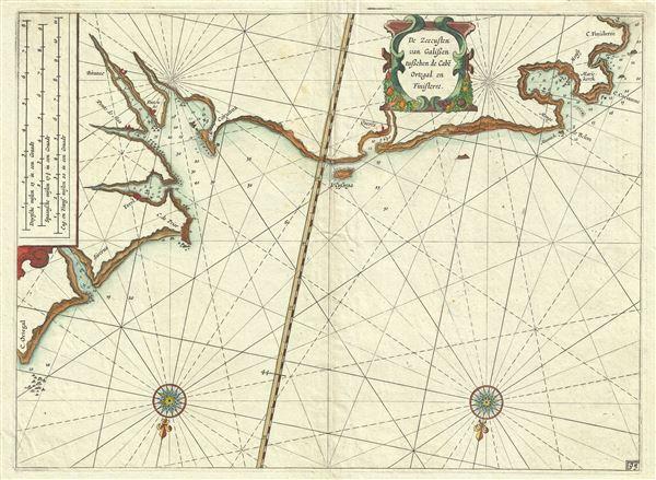 De Zeecusten van Galissen tusschen de Cabe Ortegal en Finisterre.
