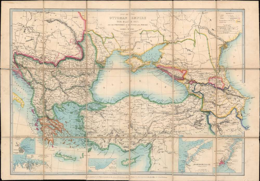 Map of the Ottoman Empire the Black Sea and the Frontiers of Russia and Persia. - Main View