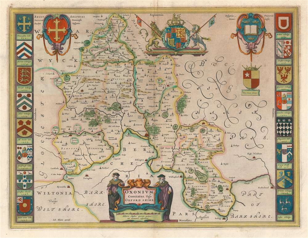 1662 Joan Blaeu Map of Oxfordshire