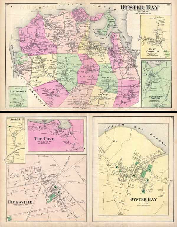 Oyster Bay New York Map.Oyster Bay Queens Co Oyster Bay Town Of Oyster Bay Queens Co
