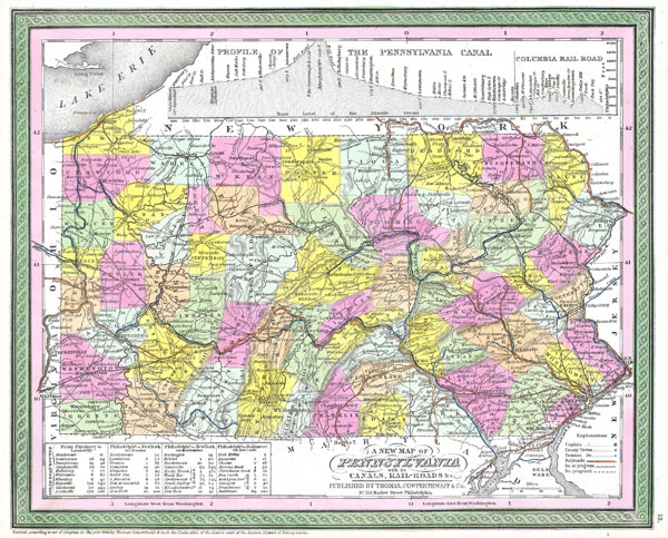 A New Map of Pennsylvania with its Canals, Rail-Roads & c. - Main View
