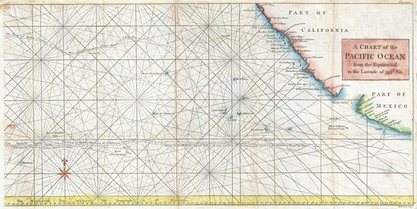 A Chart of the Pacific Ocean from the Equinoctial to the Latitude fo 39 1/2 d. No.