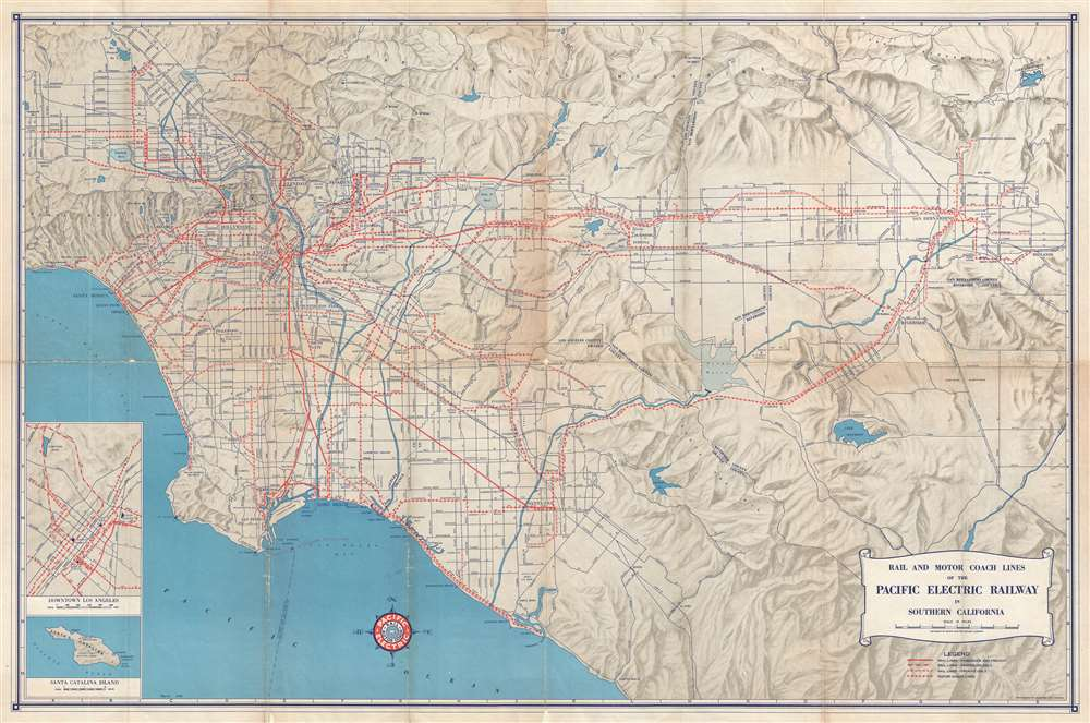 Rail and Motor Coach Lines of the Pacific Electric Railway in Southern California.