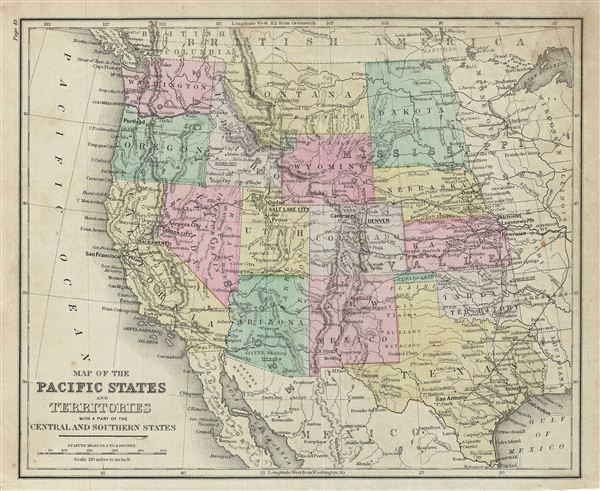 Map of the Pacific States and Territories with a part of the Central and Southern States. - Main View