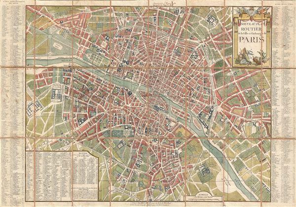 Nouveau Plan Routier de la Ville et Faubourgs de Paris.