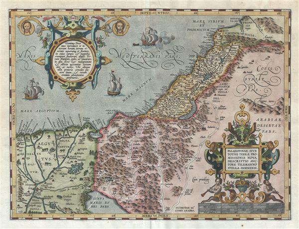 Palaestinae Sive Totius Terrae Promissionis Nova Descriptio Auctore Telemanno Stella Signensi.