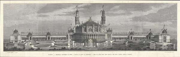Paris. - Exposition universelle de 1878. - Façade du Palais de Trocadéro.