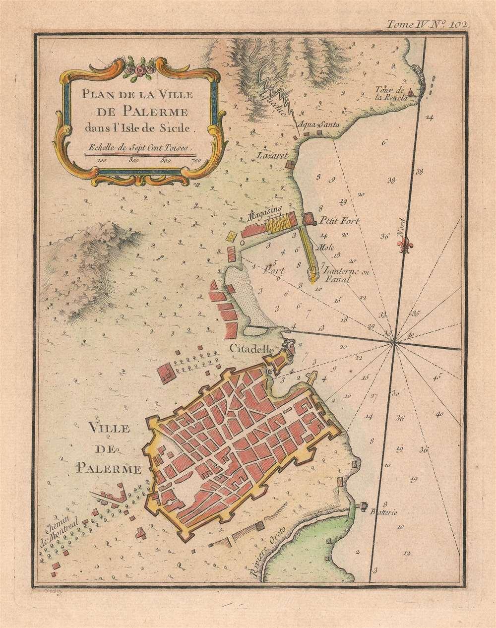 Plan de la Ville de Palerme dans l'isle de Sicile. - Main View