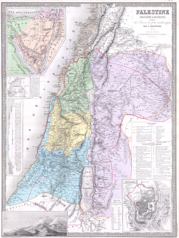 Palestine Ancienne & Moderne d'apres les Sources les plus Authentiques.