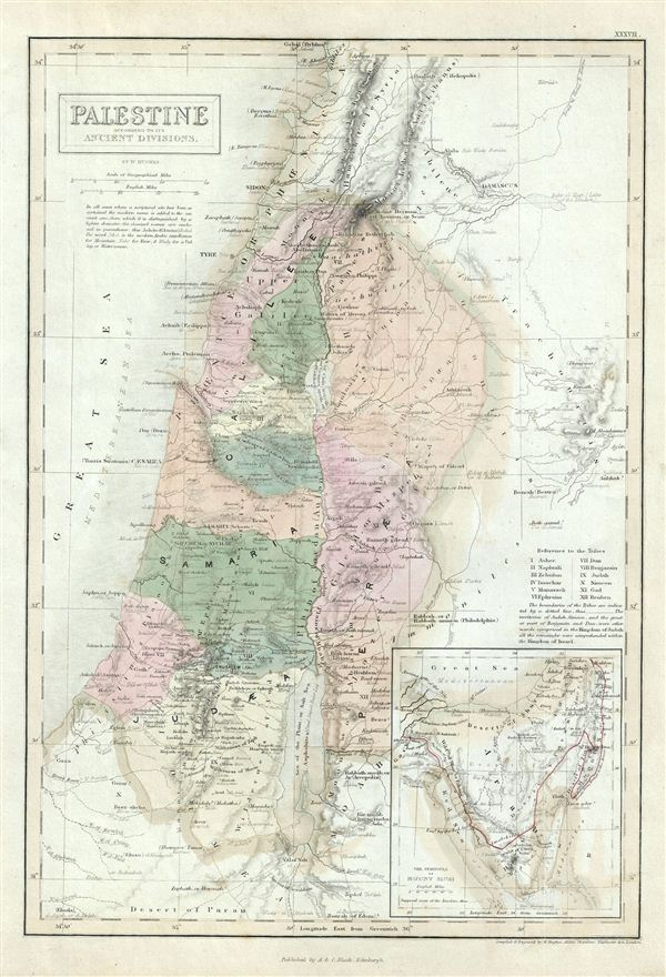 Palestine according to its Ancient Divisions. - Main View