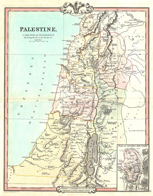 Palestine, In the Time of our Saviour Illustrating the Acts of the Apostles etc. - Main View