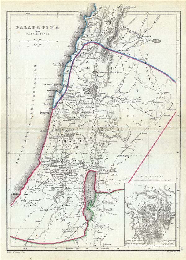 Palaestina with Part of Syria.