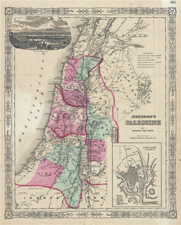 Johnson's Palestine. - Main View