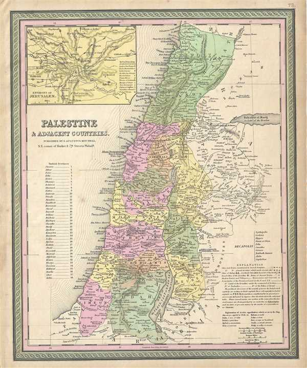 Palestine and Adjacent Countries.
